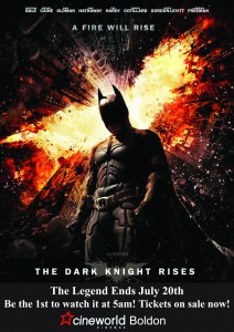 Dark Knight Rises 5am screening at Cineworld Boldon 20/07/12